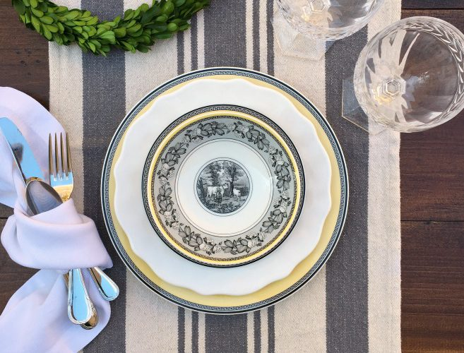 Mixing and Matching Your China with White Plates