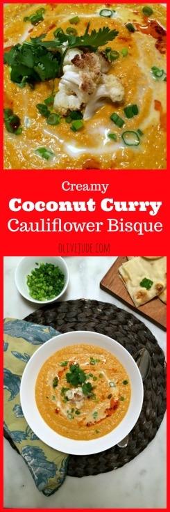 Creamy Coconut Curry Cauliflower Bisque