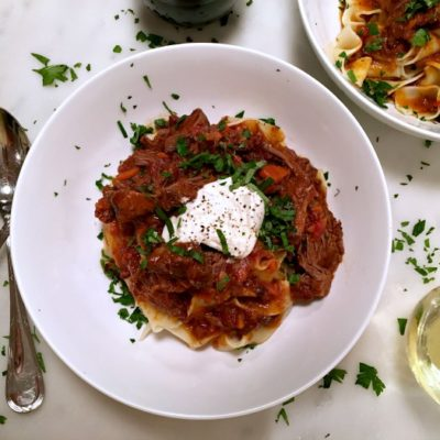 Short Rib Ragù with Pappardelle and Burrata