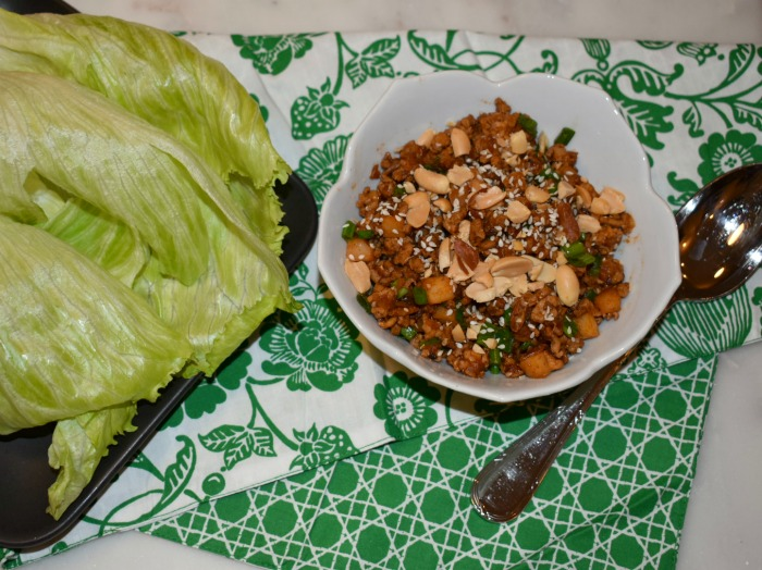 Sweet and Spicy Chicken Lettuce Wraps | Olive Jude