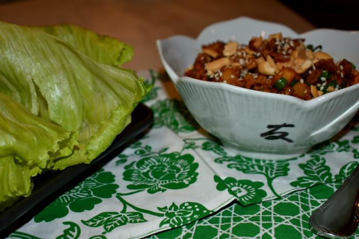 Copycat PF Changs chicken lettuce wraps