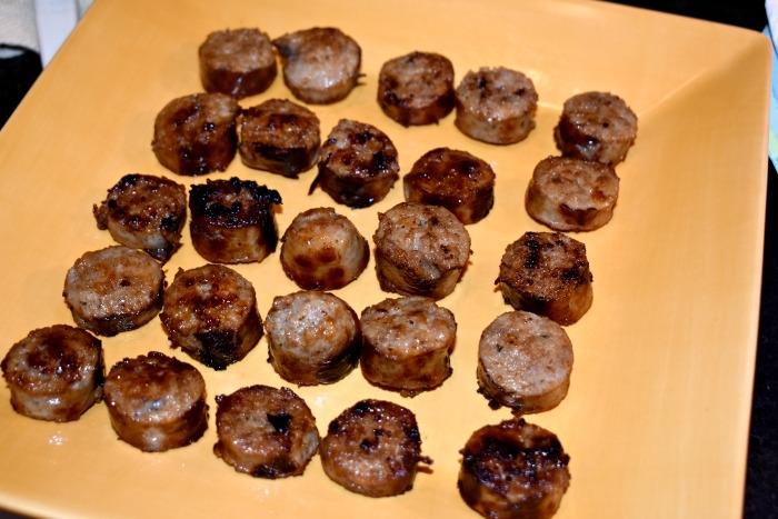 Sideline Sausage Skewer Bites