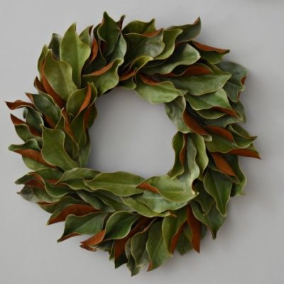 DIY: $15 Dried Magnolia Wreath