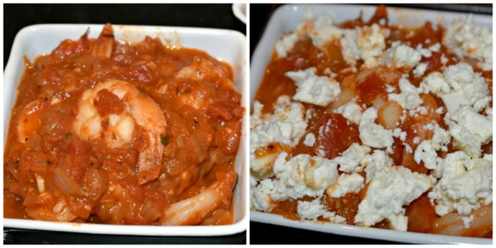 Baked Tomatoes and Feta with Shrimp
