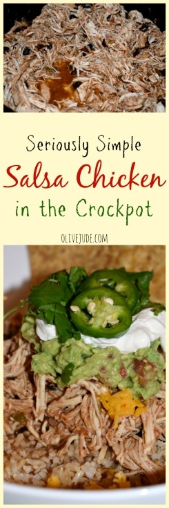 Seriously Simple Salsa Chicken in the Crockpot
