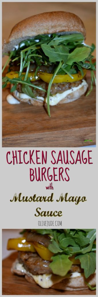 Chicken Sausage Burgers with Ina's Mustard Mayo Sauce