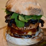 Mega Turkey and Smoked Gruyere BBQ Burger