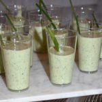 Chilled Cucumber and Cilantro Soup Shooters