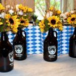DIY: Oktoberfest Biergarten Growler Centerpieces