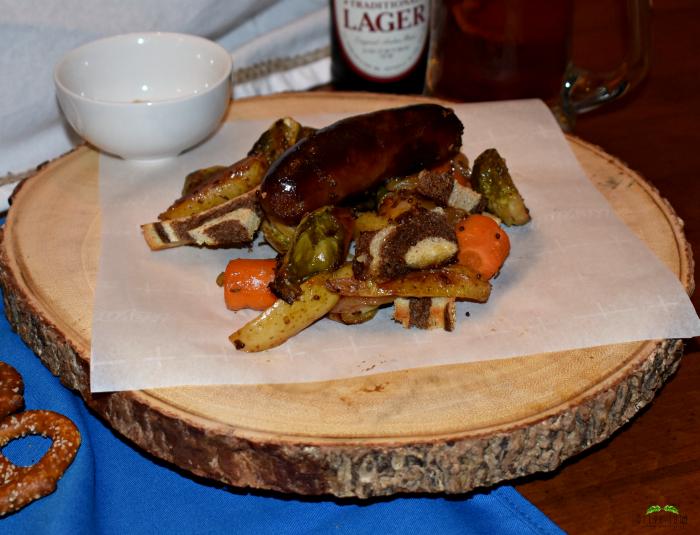 Sheet Pan Beer Brats and Vegetables : An Oktoberfest Dinner