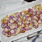 Radish Carpaccio with Mustard Seed Vinaigrette and Buttermilk Blue Cheese