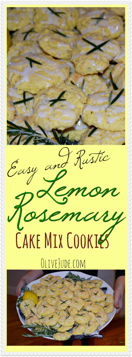 Easy and Rustic Lemon Rosemary Cake Mix Cookies