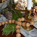 Rustic Woodland Winter Wonderland Tablescape