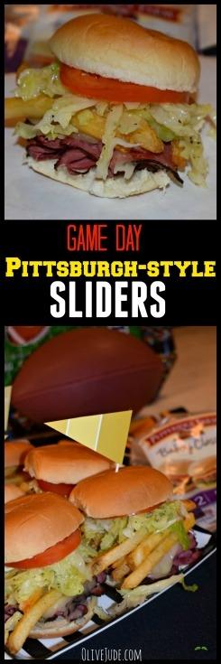 Game Day Pittsburgh-style Sliders #LittleBunsBigWin #RespectTheBun #BakedWithCare #ad