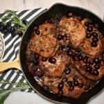 Weeknight Skillet Herb Pork Chops with Roasted Grapes