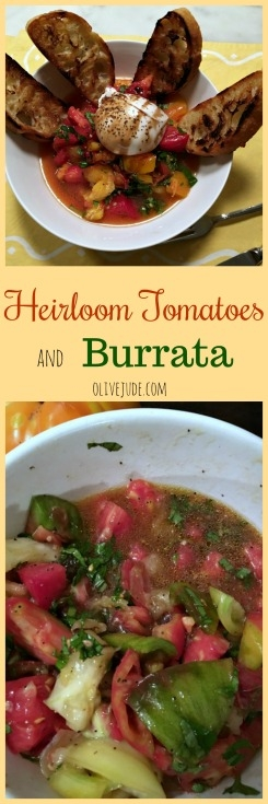 Heirloom Tomatoes and Burrata #burrata #heirloomtomatoes #tomatoesandburrata