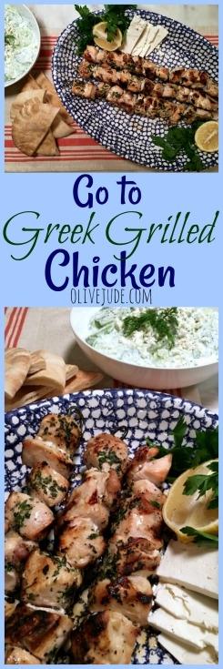 Go to Greek Grilled Chicken #grilledchickenrecipe #greekchicken #oreganorecipes #chickenskewers #grilledgreekchicken