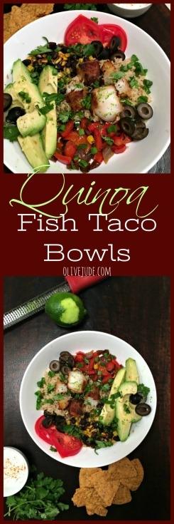 Quinoa Fish Taco Bowls