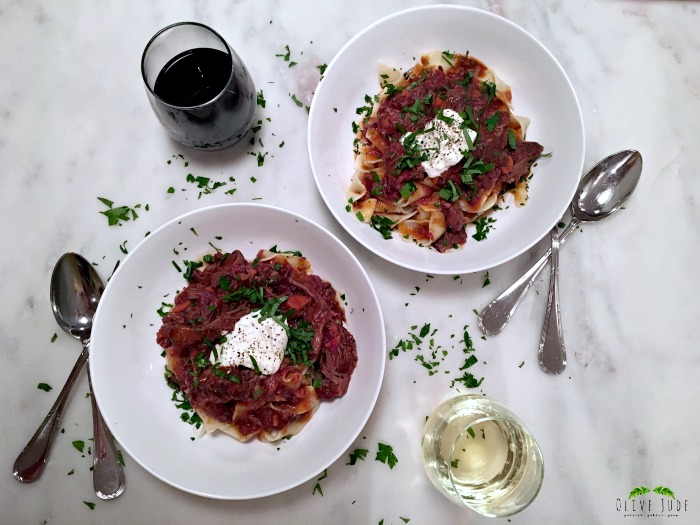 Short Rib Ragu with Pappardelle and Burrata
