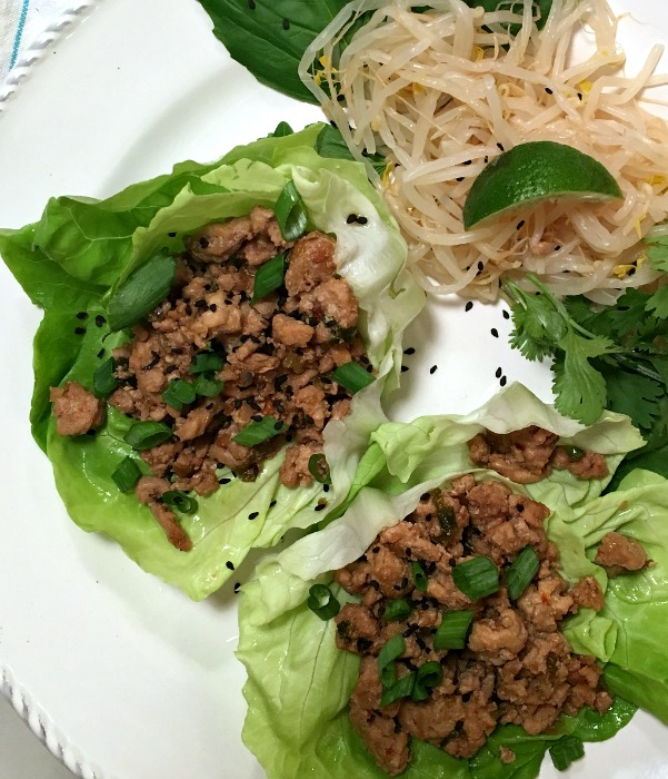 Savory Thai Chicken Lettuce Wraps