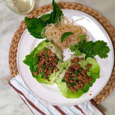 Savory Thai Chicken Lettuce Wraps