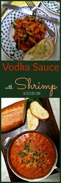 Vodka Sauce with Shrimp #vodkasauce #pennealavodkarecipe #vodkasauceandshrimp #easyvodkasauce