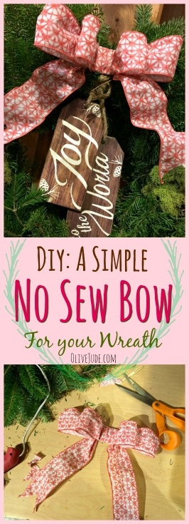 A Simple No Sew Bow for your Wreath