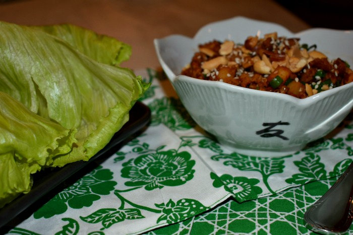 Sweet and Spicy Chicken Lettuce Wraps