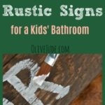 DIY: Make Your Own Rustic Signs for a Kids' Bathroom