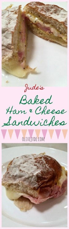 Jude's Baked Ham and Cheese Sandwiches #bakedsandwiches #bakedhamandcheese #hamandcheesesandwich #sandwichesforacrowd