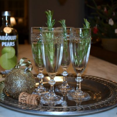 Partridge in a Pear Tree: A Sparkling Christmas Cocktail