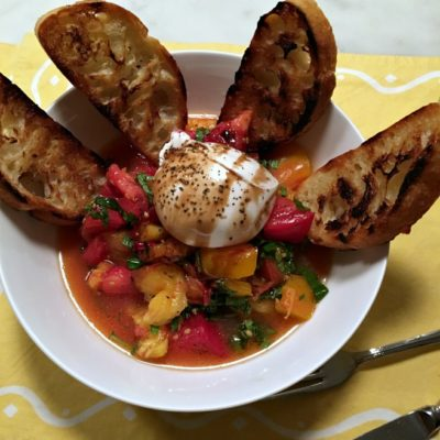 Heirloom Tomatoes and Burrata