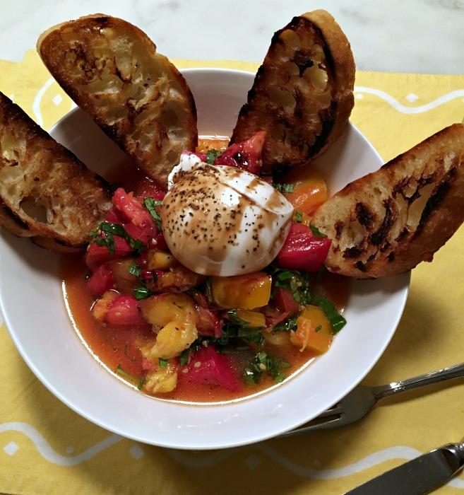 Heirloom Tomatoes and Burrata