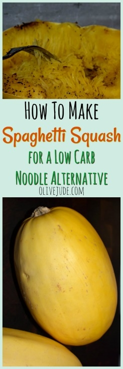 How to Make Spaghetti Squash for a Low Carb Noodle Alternative #spaghettisquashhowto #cookingspaghettisquash #spaghettisquashrecipe