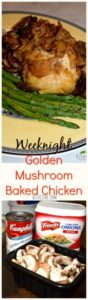 Weeknight Golden Mushroom Baked Chicken