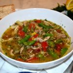Quinoa Chicken Soup with Lemon and Dill