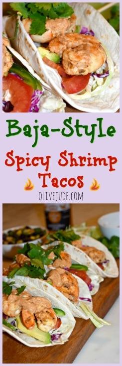 Baja-style Spicy Shrimp Tacos  #shrimptacos #grilledshrimptacos #bajastyletacos #spicyshrimp #tacotuesdayrecipes