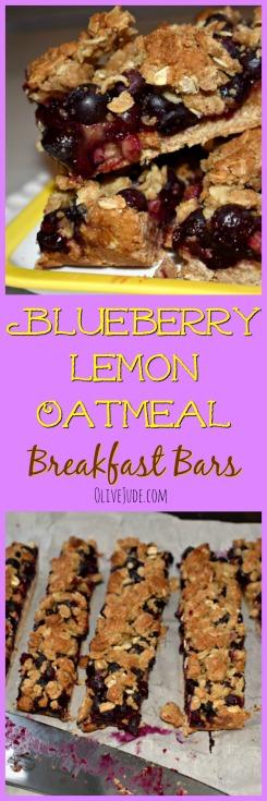 Blueberry Oatmeal Breakfast Bars #blueberrybars #breakfastbars #oatmealbars #blueberryoatmeal