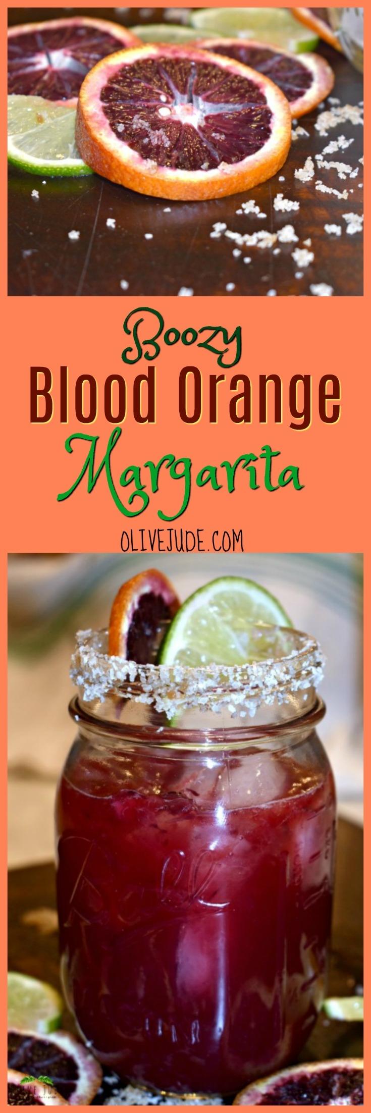 Boozy Blood Orange Margarita