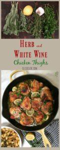 Herb and White Wine Chicken Thighs