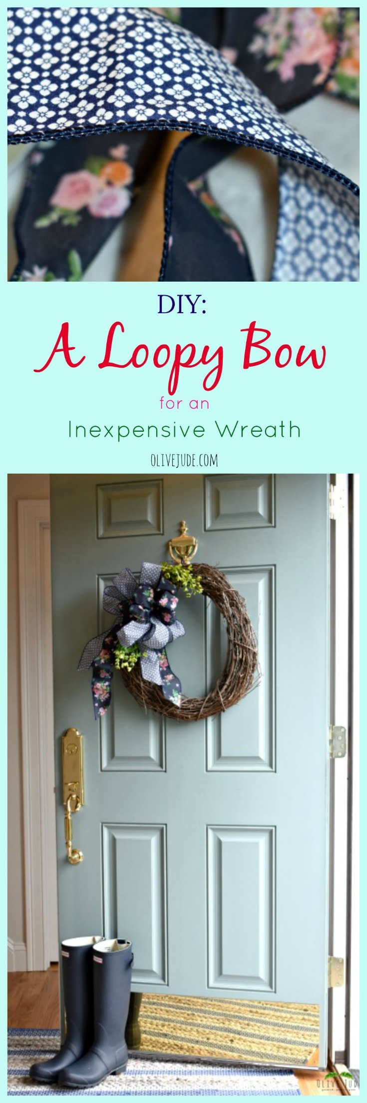 DIY: A Loopy Bow for an Inexpensive Wreath