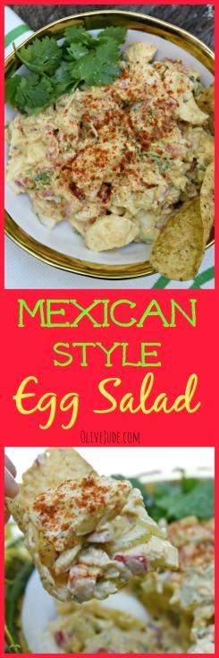 Mexican-Style Egg Salad #mexicaneggsalad #eggsaladrecipe #summerlunchideas #eggsalad #mexicansummersalad