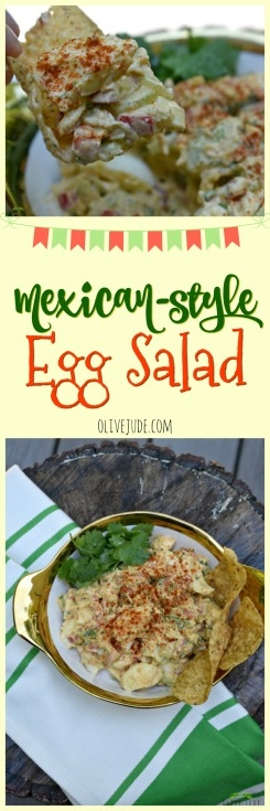 Mexican-Style Egg Salad #mexicaneggsalad #eggsaladrecipe #summerlunchideas