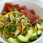 Cold Asian Noodle Salad with Fresh Ahi Tuna