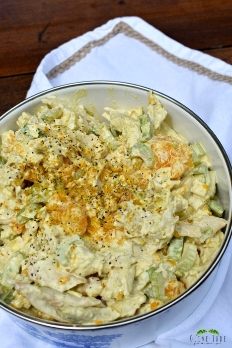 Simple Poolside Curried Chicken Salad