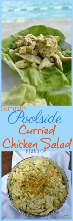 Jude's Simple Poolside Curried Chicken Salad #curriedchickensalad #chickensalad #currychicken #curriedchicken #curryrecipes