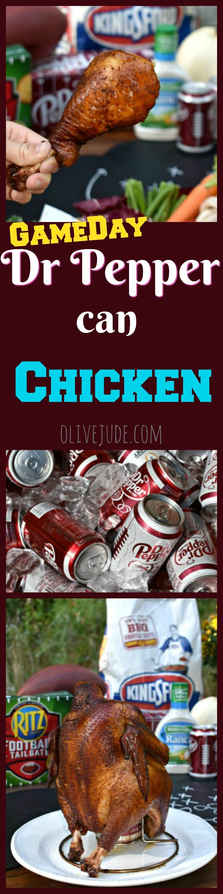 A Grill-Gate GameDay Gathering featuring Dr Pepper Can Chicken #drpepperchicken #drpepperrecipes #tailgatefood #canchicken #gamedayfood