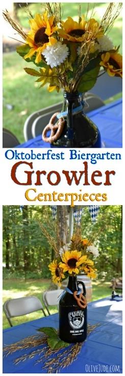 Oktoberfest Biergarten Growler Centerpieces