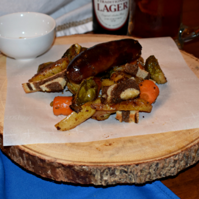 Sheet Pan Beer Brats and Vegetables: An Oktoberfest Dinner