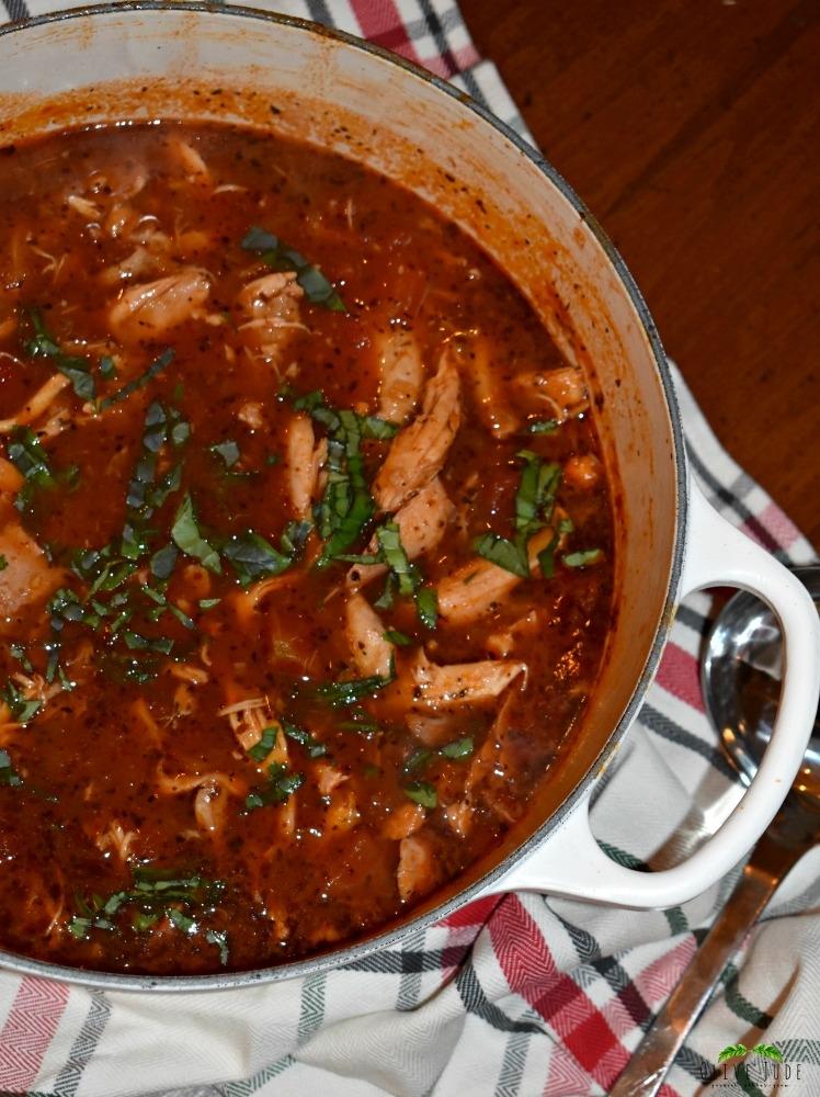 30 Minute Chicken Parm Soup